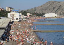 Пляж оздоровительного комплекса